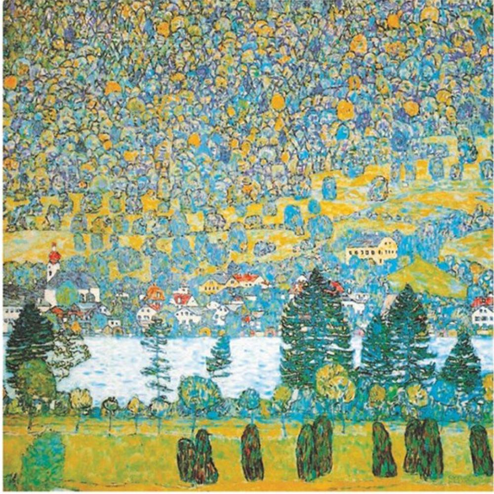Modern Canvas Art Mountain Slope At Unterach Gustav Klimt Landscape Oil Painting Reproduction