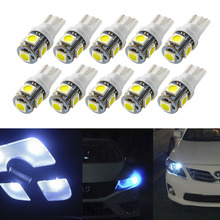 цена на Led Car DC 12v Lampada Light T10 5050 Super White 194 168 w5w T10 Led Parking Bulb Auto Wedge Clearance Lamp