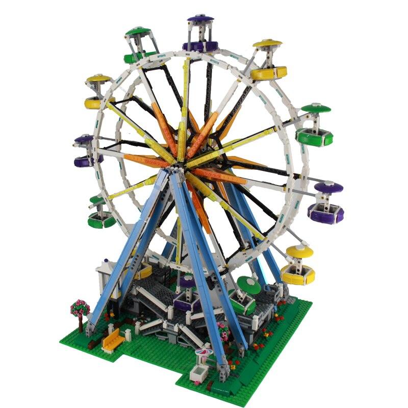 2017 New 2518Pcs City Expert Ferris Wheel Model Building Kits Blocks Bricks Toy For Children Figures Gift Compatible 10247 yks colorful balls perpetual motion revolving ferris wheel desk decor kids toy chriamas gift new sale