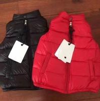 Girls Vests Children's Down Warm Vest Girl Fashion High Quality Kids Collar Vest Outerwear