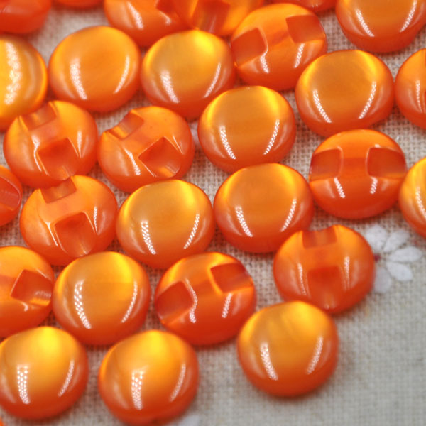 10/50/100 pcs 12 mm Orange Cats Eye button craft/sewing/baby lot mix PT82