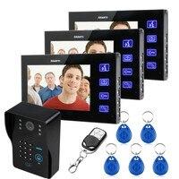 7 TFT ЖК дисплей видео телефон двери колокольчиками Домофон Системы брелки ИК Камера товара клавиатуры дистанционного + переключатель 1v3
