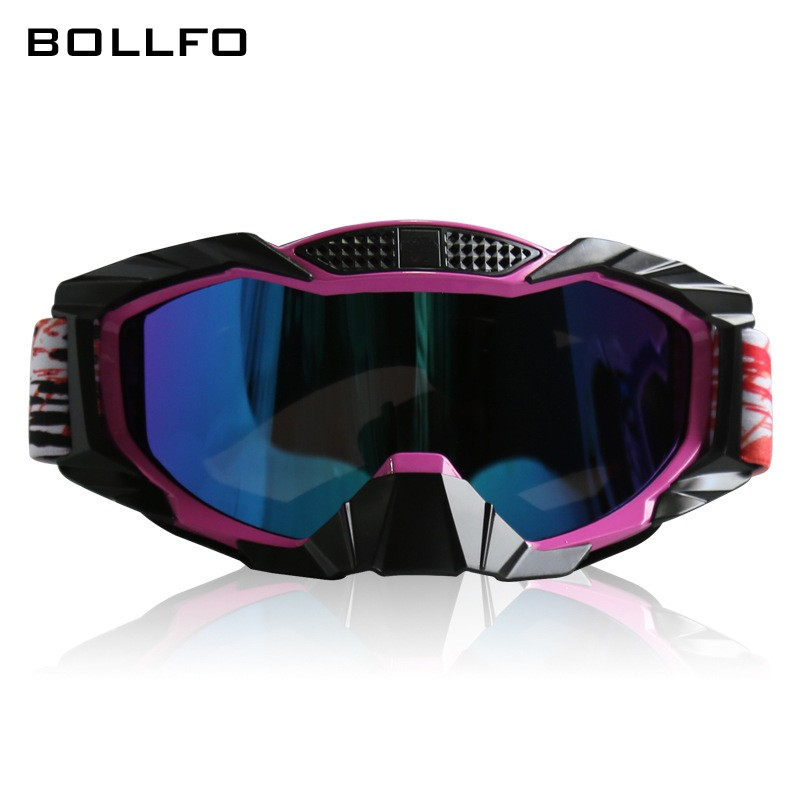 2018 New Colors Motocross Goggles Windproof Winter Skiing Glasses Outdoor Sports Spectacles For Helmet Dustproof Hiking Eyewear