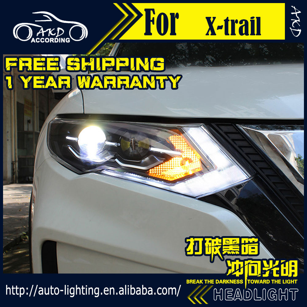 Head-Lamp Nissan Rouge Xenon-Beam Turn-Signal for X-Trail LED DRL Car-Styling D2H Hid-Bi