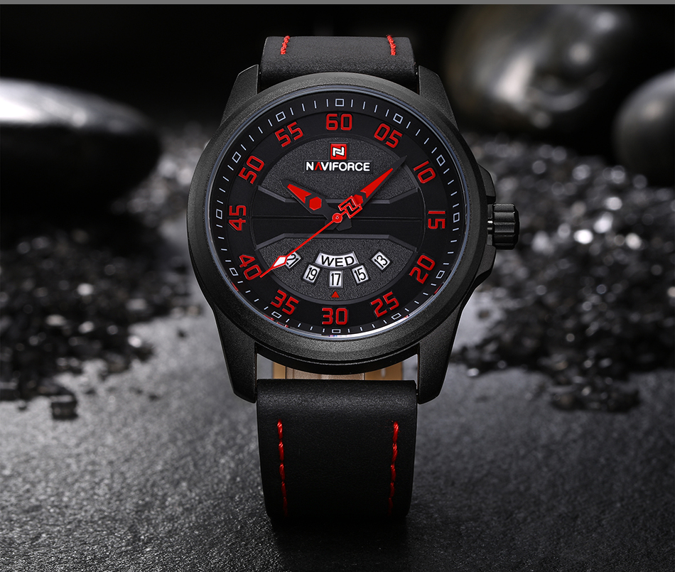 NEW Luxury Brand NAVIFORCE Men Fashion Sport Watches Men's Quartz Clock Man Leather Army Military Wrist Watch relogio masculino