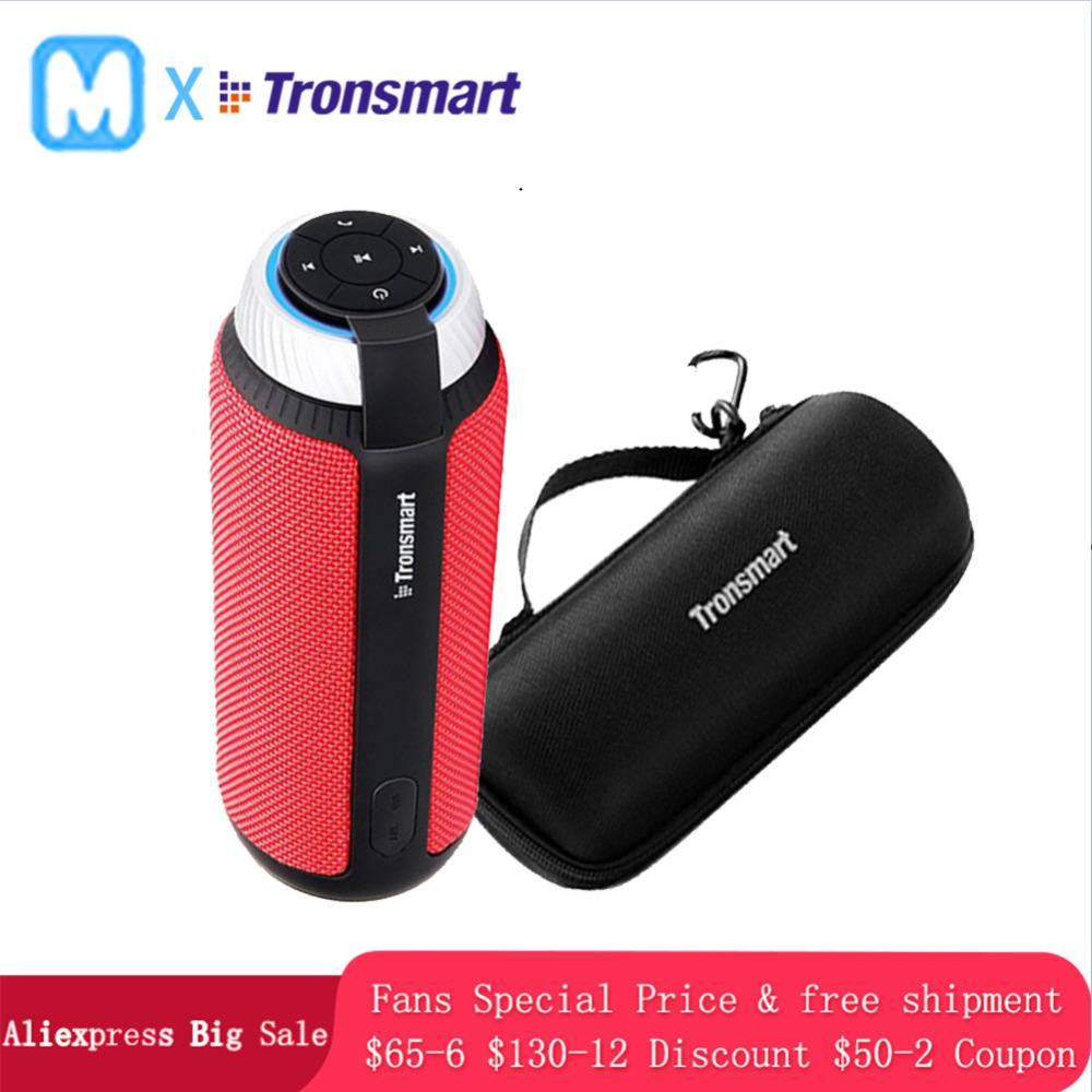 Tronsmart T6 Portable wireless Bluetooth Speaker Mini Speakers Column subwoofer Soundbar long play time Outdoor LoudspeakerTronsmart T6 Portable wireless Bluetooth Speaker Mini Speakers Column subwoofer Soundbar long play time Outdoor Loudspeaker