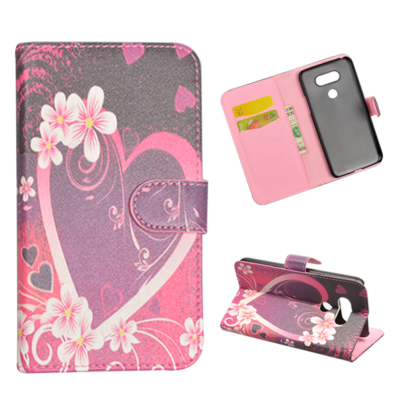 Lamocase Store For LG G5 H850 H840 Case Wallet PU Leather Cover For LG G5 Dual SIM Painting Cute Cartoon Flip Stand Phone Bags With Card Holder