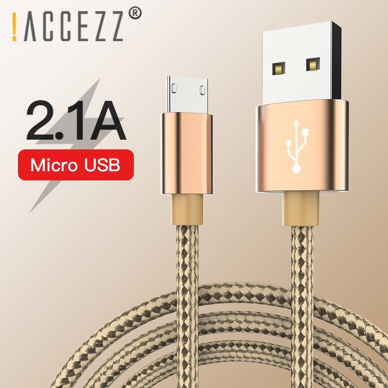 ACCEZZ Micro USB Charging Cable For Xiaomi Huawei Samsung Redmi LG Charge Cord Android Phone Nylon USB Sync Data Charger Cables in Mobile Phone Cables from Cellphones Telecommunications