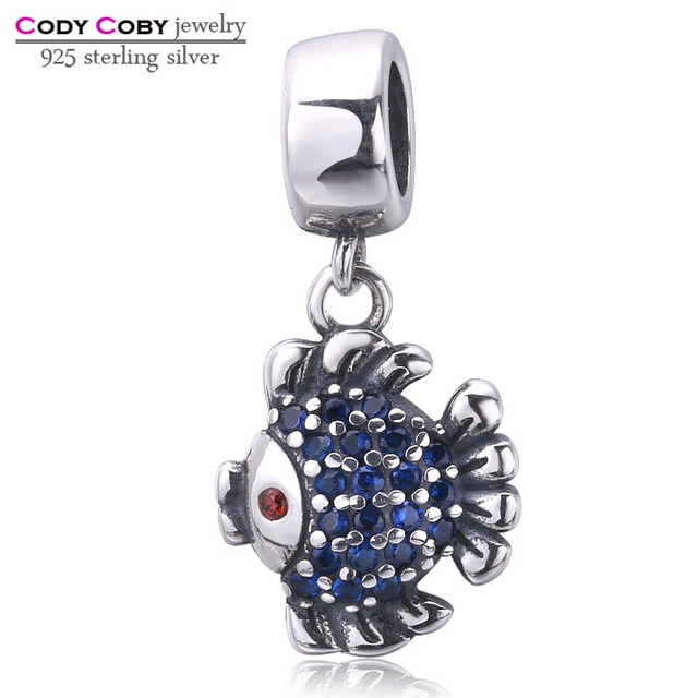 Dolphin Charm Bead - Sterling Silver 925 Blue Crystals - Gift boxed HoHD7D4