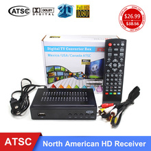USA Market Digital TV Converter Box Media Player 1080P AC-3 ATSC Terrestrial Broadcast Tv Receiver For Canada/South Korea/Mexico