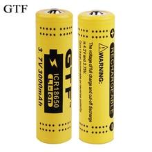 GTF 2PCS/lot original 3.7V 3000mAh 18650 Battery Li-ion Rechargeable Battery Protected PCB power Battery accumulator battery цена и фото