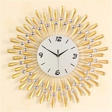 TY# 3075 the clock simple living room decorative iron mute personality of modern European quartz Watch FREE SHIPPING