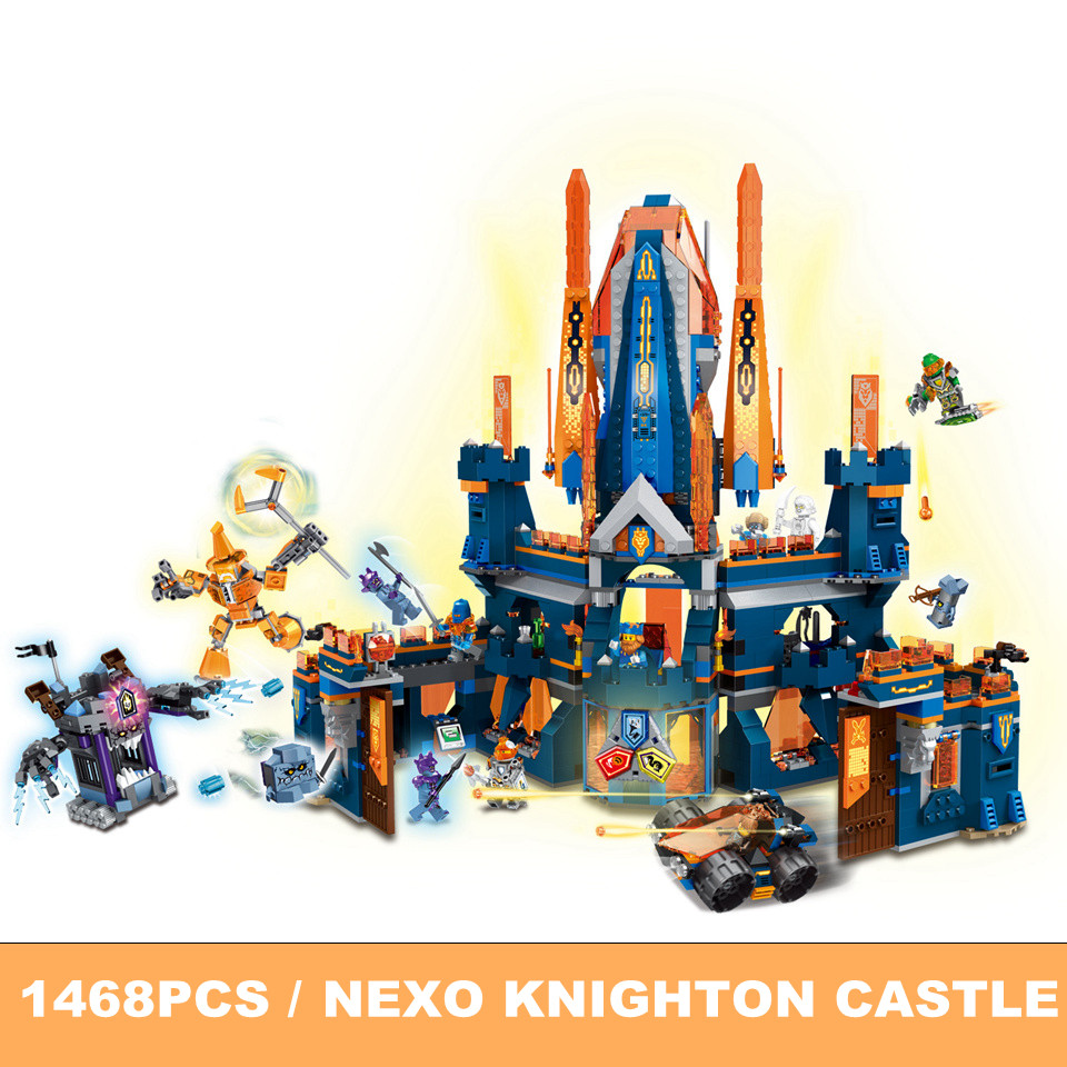 1468pcs Model Building Blocks Compatile Legoe Nexoe Knights 70357 Knighton Castle figures Knights Bricks Toys for Children Gift single sale medieval castle knights dragon knights the hobbits lord of the rings figures with armor building blocks brick toys