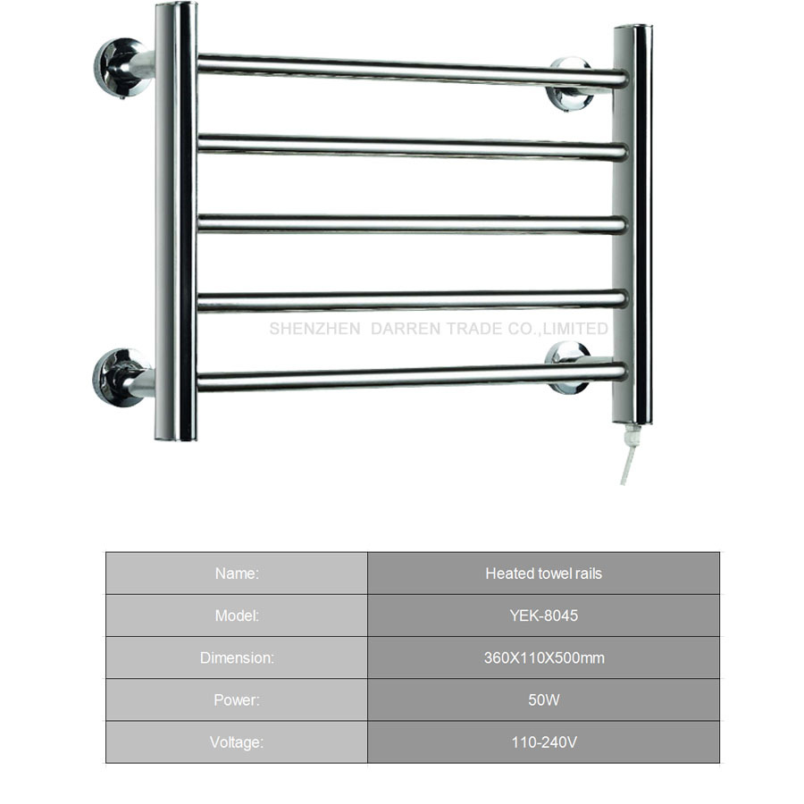1pc 50W Heated Towel Rails Holder Bathroom Accessories Towel Rack ...