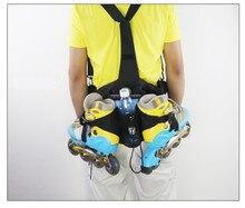 Inline סקייט תיק רולר סקייט Bagpack כתף מותניים תרמיל יומי החלקה ספורט שקיות 5 צבעים זמין