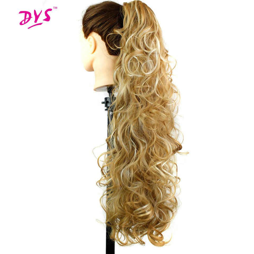 Deyngs نطاط مجعد الاصطناعية 30 بوصة 220 جرام طويل خصلة مخلب في ذيل حصان الشعر التمديد الطبيعية كاذبة هيربيسي للنساء
