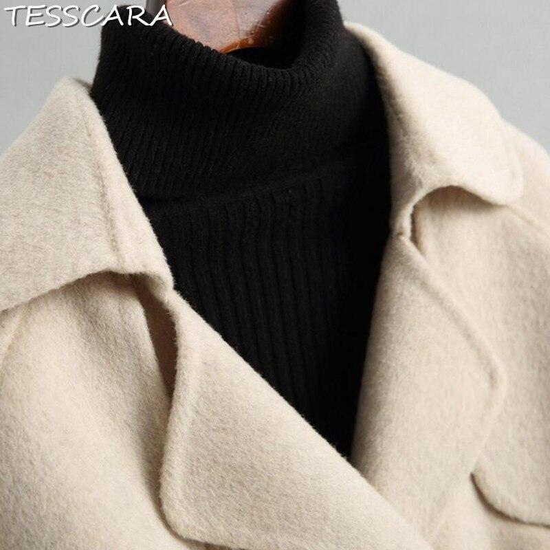 Ivory Manteau Cachemire Laine Bureau Élégant Manteaux Veste Femme Base Tesscara Automne Femmes De Pardessus Hiver Mélange Chaud Vestes 7qTAnHvw
