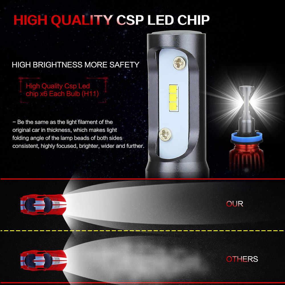 Zdatt H4 H7 Led H11 H1 9005 HB3 9006 HB4 9003 HB2 H3 H8 H9 Headlight Bulb Car Light 24V 12V Automobiles 6000K CSP 80W 8000LM/Set