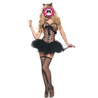 Abbille Adult Woman Halloween Carnival Costumes Sexy Catwoman Costume Cosplay Cat Fancy Dress Leopard Suits 2017