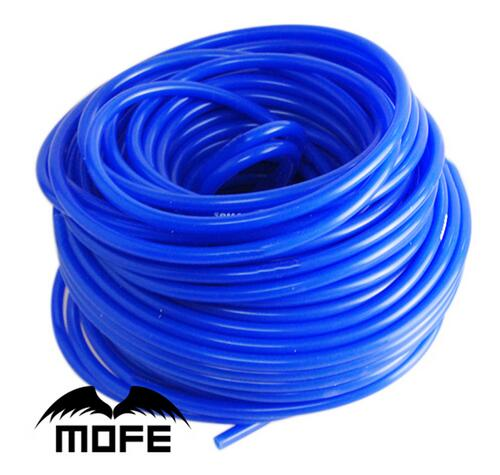 7.15 Mofe 5M Bule Black 3mm/4mm/6mm/8mm Auto Car Vacuum Silicone Hose Racing Line Pipe Tube Car-styling