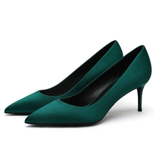 Hot Sale Brand New Women Pointed Toe Pumps 6CM Thin High Heels Shoes Silk Female Sexy Fashion Ladies Ol Office F0056