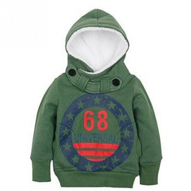 2018 Autumn Children's Hoodies Full Sleeve Boys Girls Fleece Sweatshirts Baby 68 Printed Pullover Hooded Outerwear Kids Clothes 1