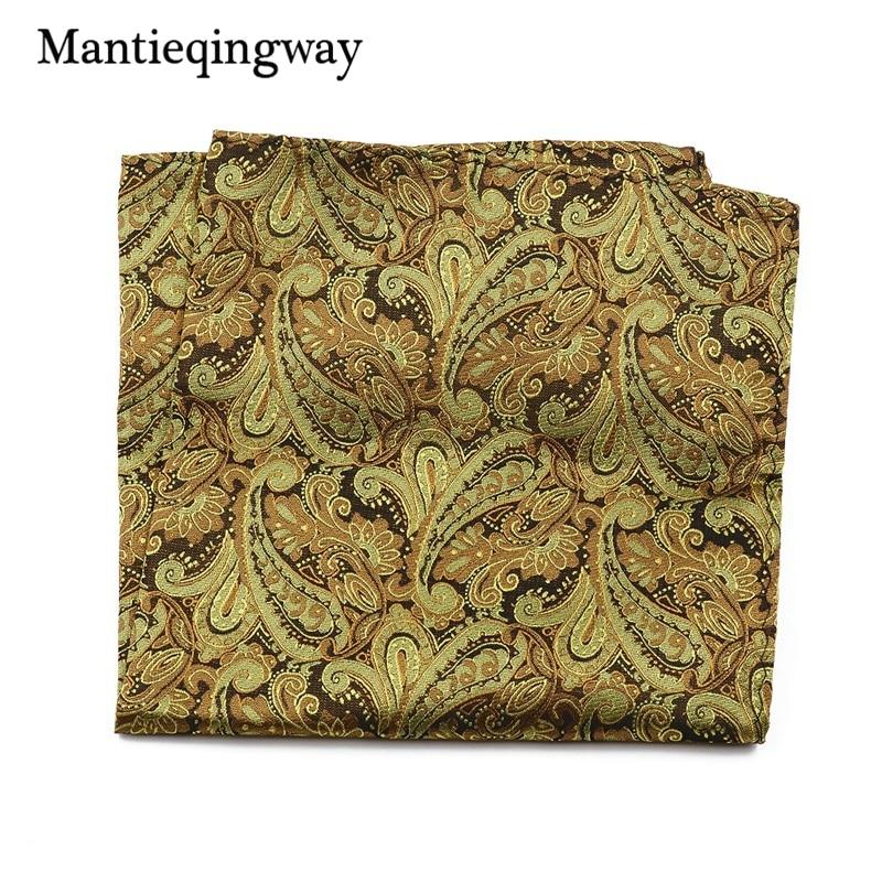 Mantieqingway Men's Paisley Floral Handkerchief Pocket 30*30cm Pocket Square Wedding Suits Chest Towel Hanky Polyester Hankies