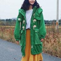 Samstree/зимнее повседневное пальто для женщин, с капюшоном, средней длины, плюс размер, с роговыми пуговицами, на шнурке, с широкой талией, верхн