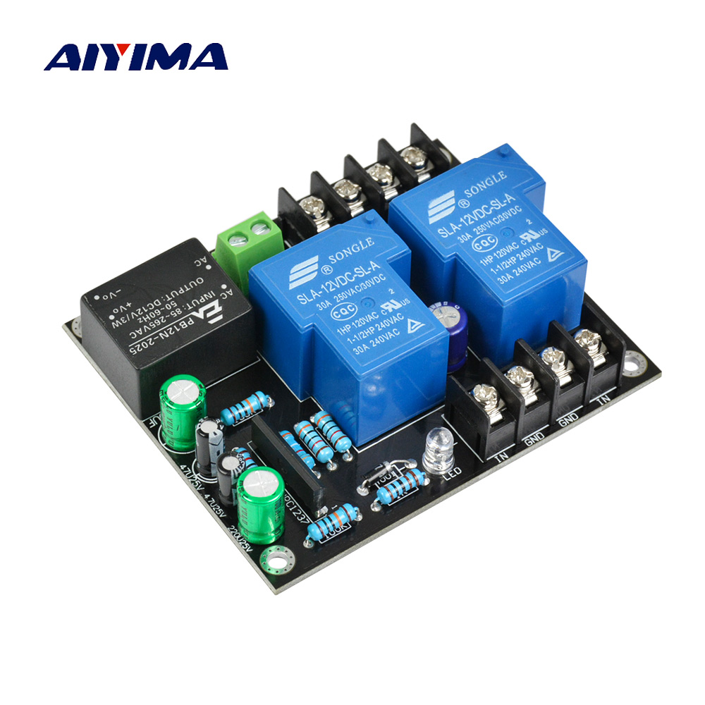 Aiyima UPC1237 2.0 Speaker Protection Board kit Parts reliable performance for HIFI Amplifier DIY aiyima upc1237 speaker protection board dual channel power on delay dc protect module 11 26v for audio amplifier amp diy