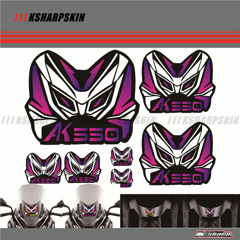 MOTORCYCLE HELMET STICKER FRIAING DECALS Windshield LOGO FIT KYMCO AK550