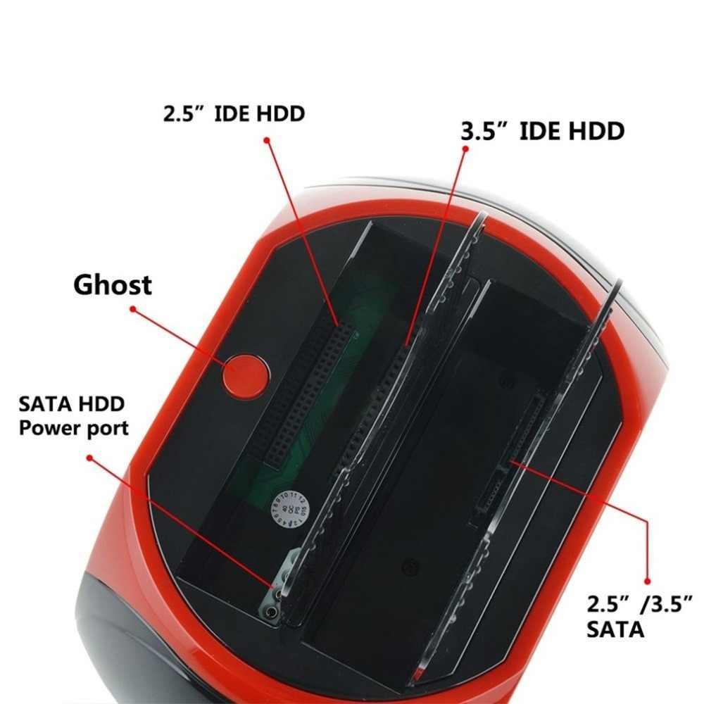2.5/3.5 بوصة إيد ساتا قاعدة القرص الصلب متعددة الوظائف القرص الصلب قاعدة لتثبيت الكمبيوتر المحمول عالية السرعة مع قارئ بطاقات مصباح ليد هد قاعدة