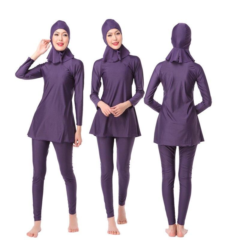 Muslim Swimming Women Modest Coverage Hijab Plus Size Muslim Swimwear Bathing Suit Beach Swimsuit for Arabian Burkinis