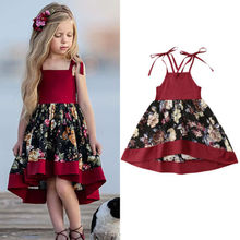 Flower Kid Baby Girls Dress Sleeveless Lace Vintage Party Wedding Holiday Beach Dress For Girls Princess Baby Girls Dress