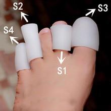 زوج واحد من غطاء وسادة للأظافر مصنوع من السيليكون لأصابع القدم والأظافر مصنوع من مادة البولي يوريثان