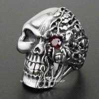 316L Stainless Steel Skull Mens Biker Ring 2N001