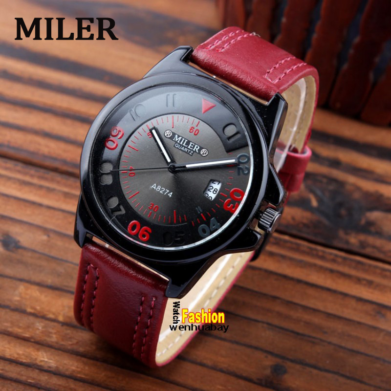Hot sale Quartz Ladies watches Brand MILER Leather Strap Dress Fashion Womens Sports Watches Hour Relogio Feminino for gift