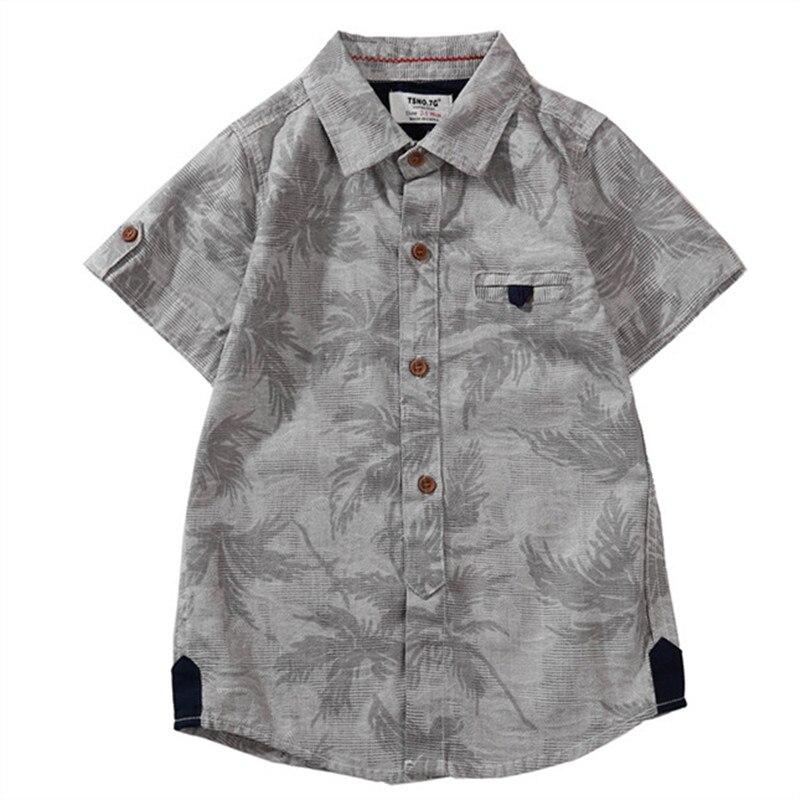 купить Boys Shirts 2018 Summer Fashion Children Short Sleeved Shirt For Boy Clothing Cotton Casual Baby Blouses Camisas Para Hombre по цене 809.17 рублей
