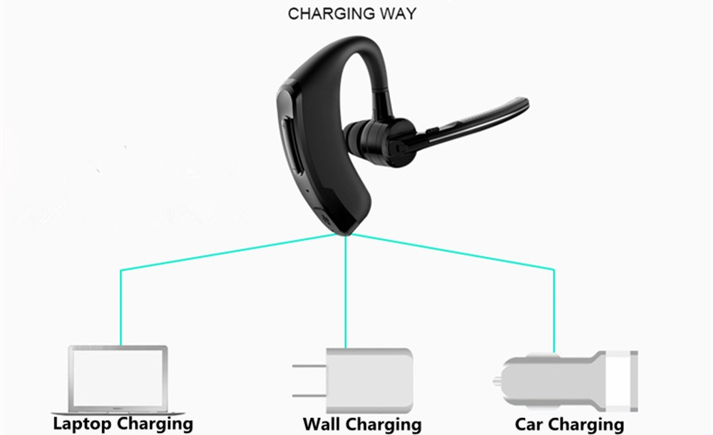 Handsfree business bluetooth headset with mic sweatproof voice control headphone for sports driving  noise cancelling earphone (11)