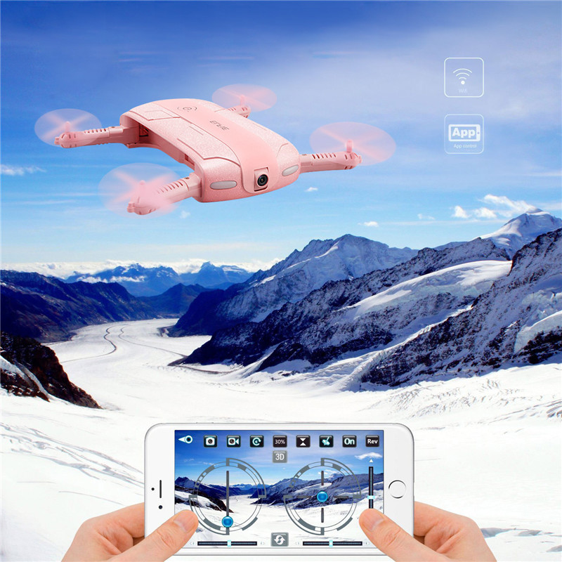 Eachine E50S WIFI FPV With 2MP 720P Camera Foldable Arm Altitude Hold Beauty Mode Selfie RC Quadcopter VS JJRC H37 Pink in stock eachine e57 wifi fpv selfie drone with 720p camera auto foldable arm altitude hold rc quadcopter rtf vs jjrc h49 h37