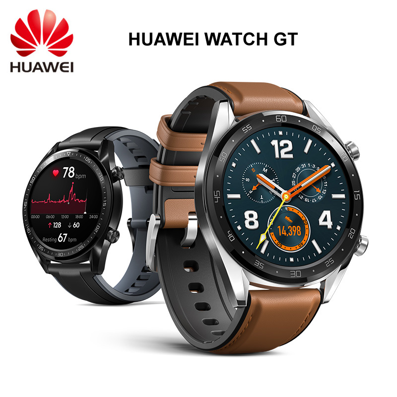 HUAWEI WATCH GT Smart Sport Watch 1.39 inch AMOLED Colorful Screen Heartrate Report GPS Swim Jogging Cycling Sleep Monitor Watch