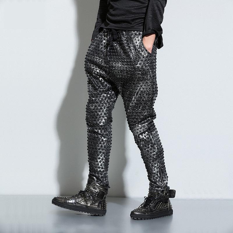 2018 Harem Pants Casual Skinny Sweatpants Solid Hip Hop Sportwear Trousers Joggers Pants Men Boys Joggers Dots Cool Pant for Men