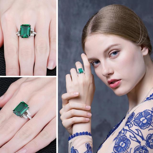 Green Ring - 925 Silver 3