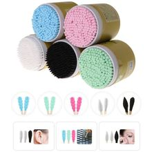200Pcs Bamboo Cotton Buds Swab Wood Sticks Disposable Double-Headed Makeup Tools Cleaning of Ears  Tips Microbrush