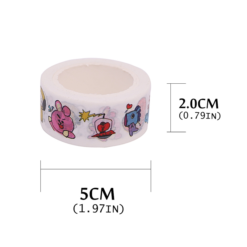 Office Adhesive Tape Kpop Bts Decorative Washi Tape Paper Masking Tape Exo Twice Wanna One Diy Scrapbooking Adhesive Diary Paper Stickers