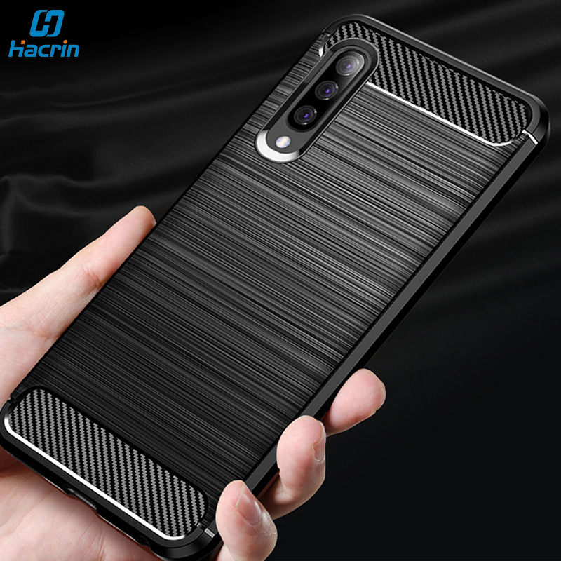 Hacrin Silicon Case For <font><b>Samsung</b></font> Galaxy <font><b>A70</b></font> Case Soft Carbon Fiber Bumper Cover <font><b>Hoesjes</b></font> On For <font><b>Samsung</b></font> A30 A40 A50 <font><b>A70</b></font> Case 2019 image