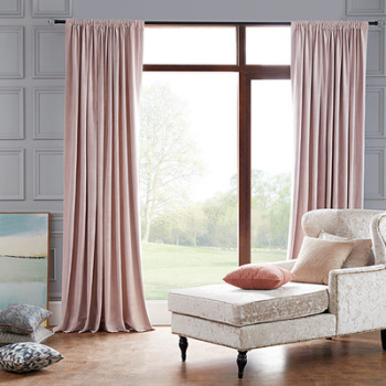 Modern minimalist living room curtains thickening blackout velvet Dutch velvet curtain solid color