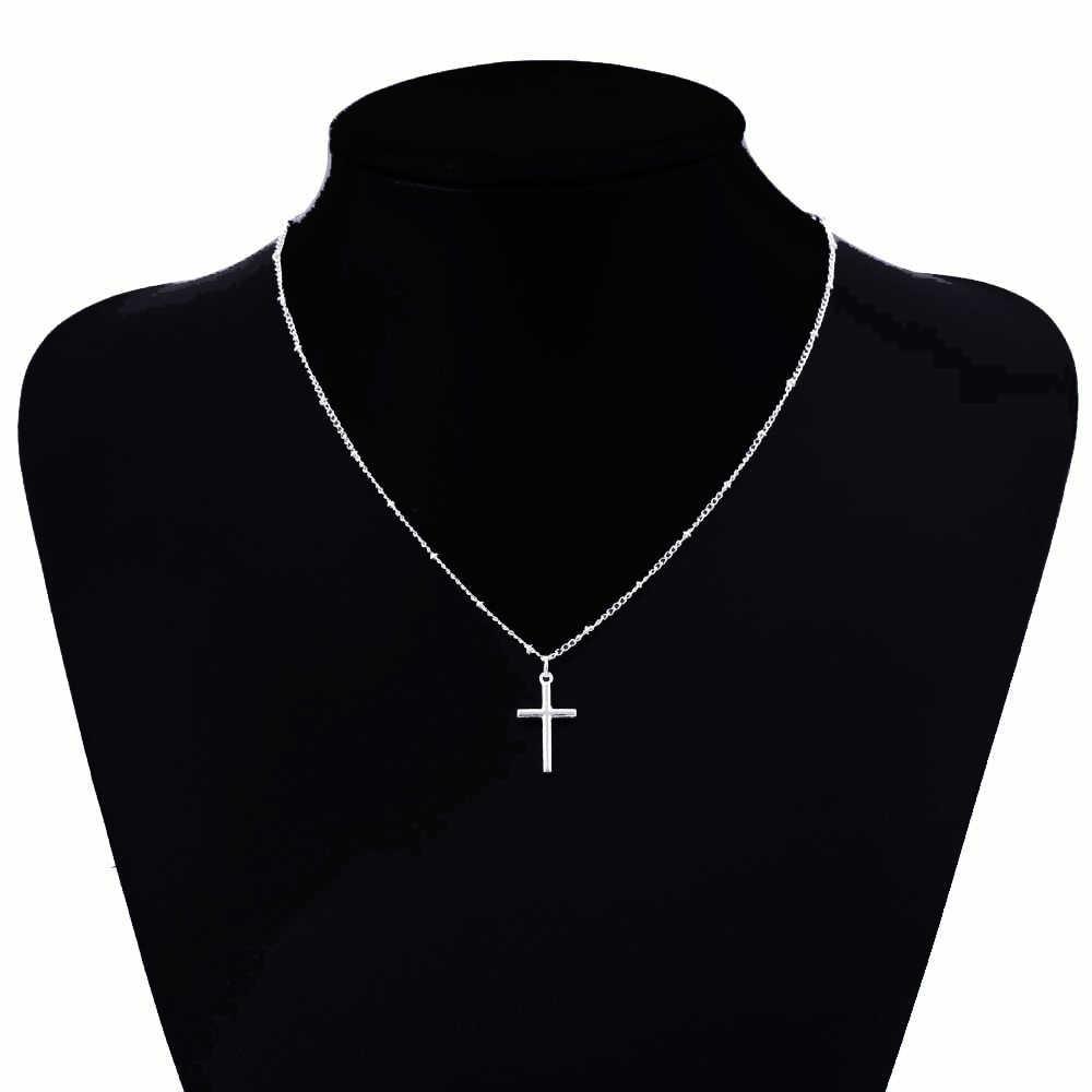 Vienkim 2019 летнее золотое ожерелье с крестом маленький золотой крест Религиозные ювелирные изделия Женское Ожерелье