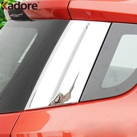 For Ford Ecosport 2013 2014 2015 2016 Tail Spoilers Rear Door Side Window Around ABS Chromed