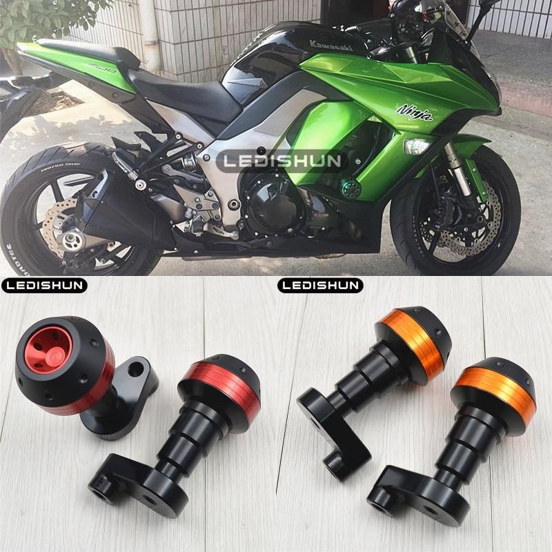 Hunter-Bike Z1000 Frame Slider Aluminum Anti Crash Protector for Kawasaki NINJA Z1000 Z1000SX 2010-2019 Black