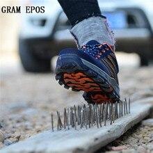 Gram Epos мужская пара Сапоги и ботинки для девочек Для мужчин рабочая обувь Обувь Сталь носком Кепки для анти-smash проколов дышащий защиты обувь